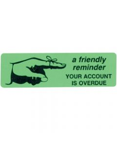 AVERY DMR1964R4 DISPENSR LABEL,Printed Friendly Reminder,Green Pack of 125