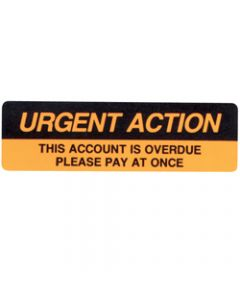 AVERY DMR1964R2 DISPENSER LBL,Printed Urgent Action Orange,Pack of 125