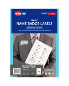 AVERY L4718 FABRIC NAME LABELS,8/Sht 86.5x55.5 Acetate Silk,Pack of 120