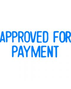 XSTAMPER STAMP CX-BN 1025,APPROVED FOR PAY BLUE