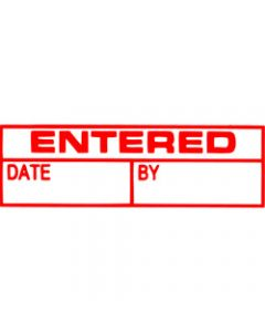 XSTAMPER STAMP CX-BN 1534,ENTERED/DATE/BY RED