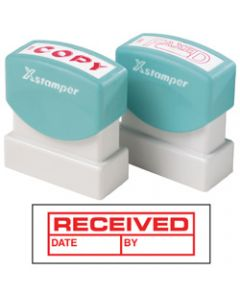 XSTAMPER STAMP CX-BN 1680,RECEIVED/DATE/BY RED