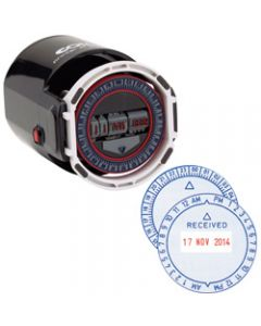 COLOP R40 TIME & DATE STAMP,12HR 4mm Type Self Inking
