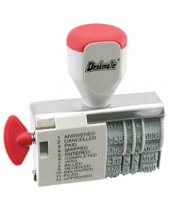 DESKMATE DIAL-A-PHRASE STAMP,DATE, 12 Phrase's 4mm