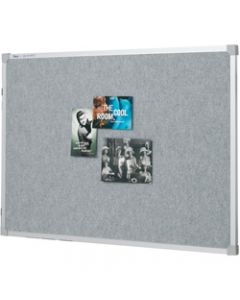 PENRITE FABRIC BOARDS,Alum Frame 900x600mm Silver
