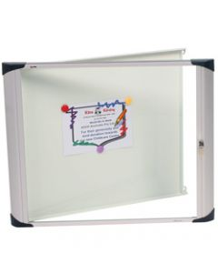 NOBO EXTERNAL NOTICE BOARDS,1DR Lockable H/D 1034x977 Wht