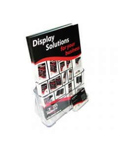 DEFLECT-O BROCHURE HOLDERS,A4 Free&W/Mount, + Bus.Card