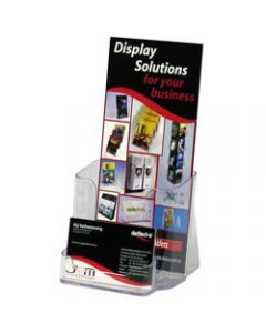 DEFLECT-O BROCHURE HOLDERS,DL Free&W/Mount, + Bus.Card