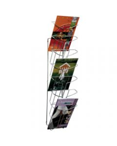 ALBA WIRE WALL MOUNTED DISPLAY,7 Tier