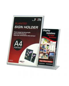Deflect-O Sign Holder Slanted,A4 Portrait,DL Brochure Pocket