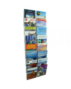 ESSELTE CLIPLOCK WALL SYSTEM,Brochure Holder 16xA4 Pockets