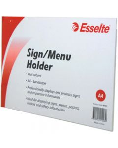 ESSELTE SIGN/MENU HOLDER,A4 Landscape Wall Mount