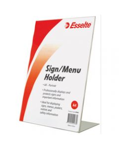 ESSELTE SIGN/MENU HOLDER,A4 Slanted Portrait