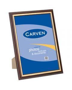 CARVEN DOCUMENT FRAME,A4 Wall Mountable Redwood Gold