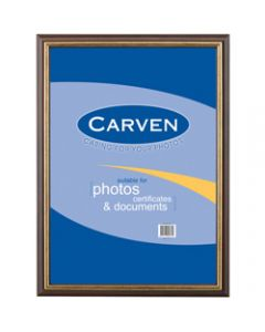 CARVEN DOCUMENT FRAME,A3 Wall Mountable Redwood Gold