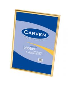 CARVEN DOCUMENT FRAME,A4 Wall Mountable Gold