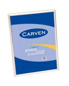 CARVEN DOCUMENT FRAME,A4 Wall Mountable Silver