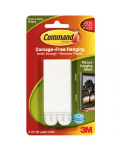 COMMAND PICTURE HANGING STRIPS,17206 Large,White