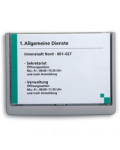 DURABLE CLICK SIGN,210x149mm A5 Grey