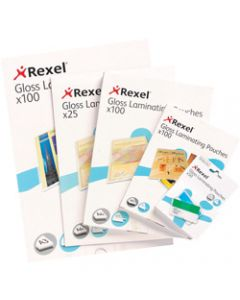 REXEL LAMINATING POUCHES,A3 2x75 Micron,Pack of 100