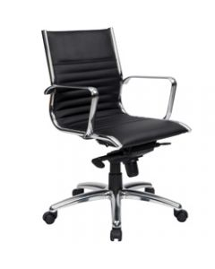 COGRA EXECUTIVE CHAIR,Medium Back Leather Black
