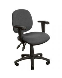 CRESCENT TASK CHAIR,With Arms,Black Fabric
