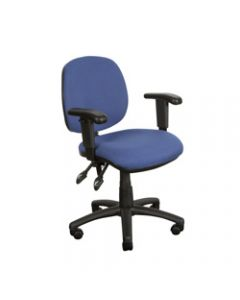 CRESCENT TASK CHAIR,With Arms,Blue Fabric