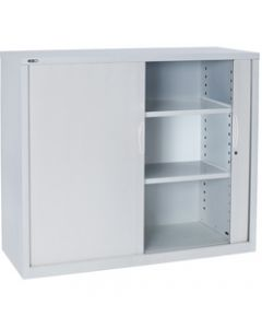 GO TAMBOUR DOOR CUPBOARD,White Satin H1016xW1200xD470mm,Shelves not Included