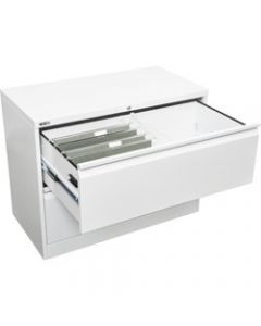 GO LATERAL FILING CABINET,2 Drawers H705xW900xD470mm,White China