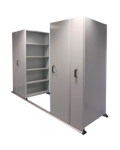 APC EZI-SLIDE AISLE SAVER UNIT,5 Shelves 4 Bay Silver Grey,2500L x 2175H x 1200W x 400Dmm