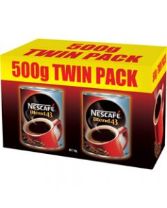 NESCAFE BLEND 43 INSTANT,Coffee 500gm Pack of 2