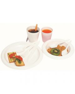 MARBIG DISPOSABLE BOWL,Plastic 180mm Pack of 50