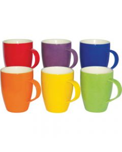 CONNOISSEUR MUGS,350ml Assorted Colors Set of 6,Set of 6
