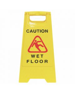 CLEANLINK SAFETY SIGN,Wet Floor Yellow,32x31x65cm