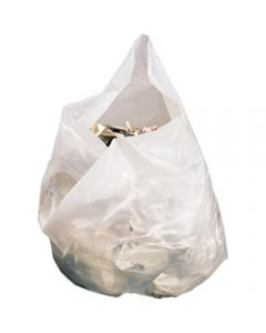 GARBAGE BAGS MEDIUM 28LITRES,White Pack of 50,