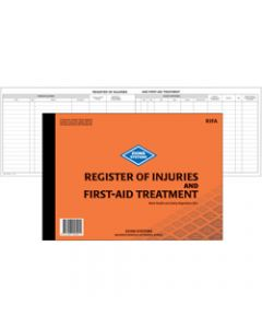 ZIONS RIFA REGISTER,Of Injuries And First Aid,Treatment Book