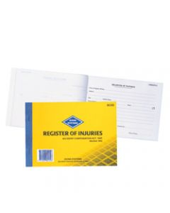 ZIONS ROID REG OF INJURIES BK,Register Of Inj &First Aid Vic