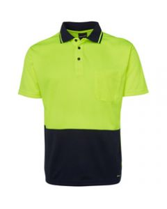 ZIONS 3811 SAFETY POLO SHIRT,Two Tone Fluoro Short Sleeve