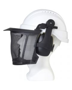 MAXISAFE HARD HAT ACCESSORIES,Rockman Forestry Kit,With Mesh Visor & Muffs