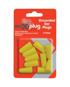 MAXISAFE DISPOSABLE EARPLUGS,Uncorded Class 5 27dB,Pack of 5