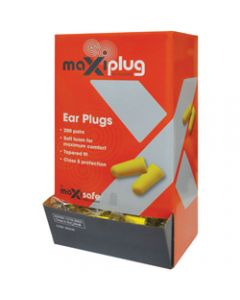 MAXISAFE DISPOSABLE EARPLUGS,Uncorded Class 5 27dB,Pack of 200