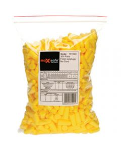 MAXISAFE DISPOSABLE EARPLUGS,Uncorded Class 5 27dB,Pack of 300