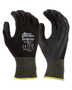 MAXISAFE SYNTHETIC COAT GLOVES,Black Knight Gripmaster Glove,Large