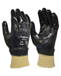 MAXISAFE SYNTHETIC COAT GLOVES,Blue Knight Nitrile Glove,Fully Coated, Large