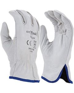 MAXISAFE LEATHER COTTON GLOVES,Maxisafe Rigger Glove,Natural Cowgrain & Cotton, M