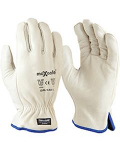 MAXISAFE LEATHER COTTON GLOVES,Antarctic Extreme Glove,Insulated Thinsulate Rigger L