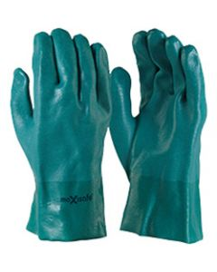 MAXISAFE CHEM RESISTANT GLOVES,Chemical Resistant Glove,Green PVC Double Dipped 27cm