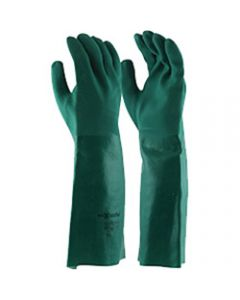 MAXISAFE CHEM RESISTANT GLOVES,Chemical Resistant Glove,Green PVC Double Dipped 45cm