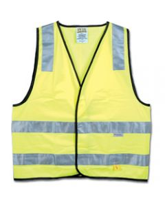 MAXISAFE HI-VIS SAFETY VEST,Day Night Yellow - Large,Class D/N