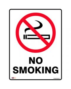 SAFETY SIGNAGE - PROHIBITION,No Smoking 450mmx600mm Metal
